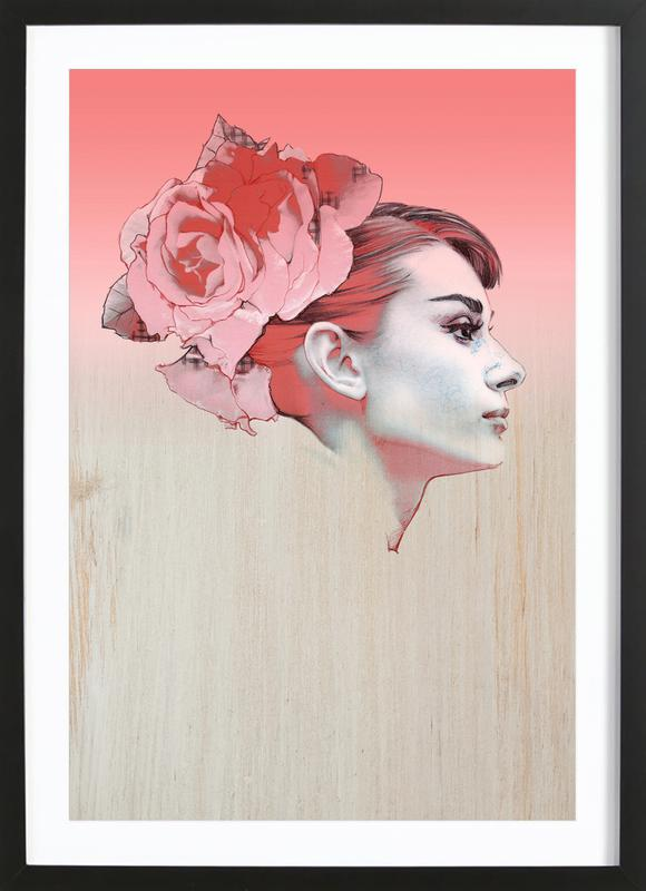 Audrey III -Bild mit Holzrahmen