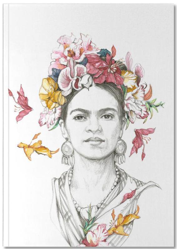 Flowered Frida Premium Notizbuch | Dekoration > Accessoires | Mehrfarbig | Papier