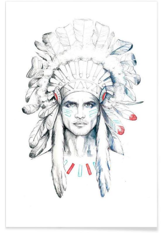 Indian man -Poster