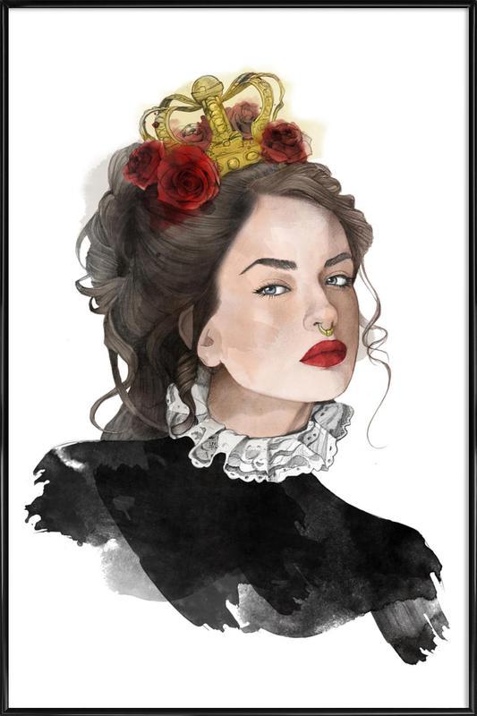 Queen Gerahmtes Poster | Dekoration > Bilder und Rahmen > Poster | Mehrfarbig