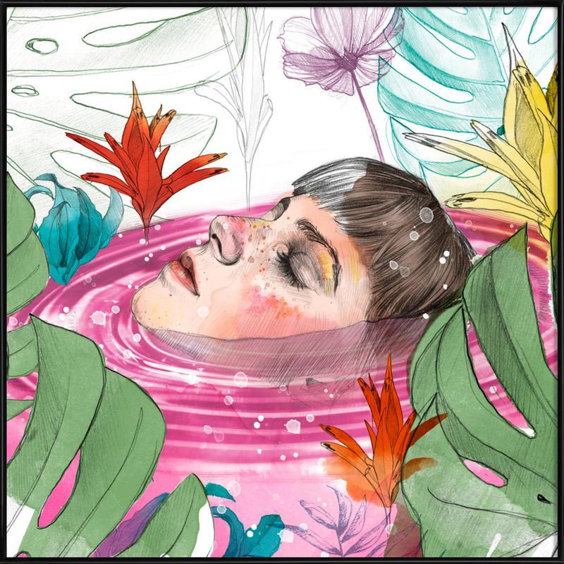 Ophelia Gerahmtes Poster | Dekoration > Bilder und Rahmen > Poster | Mehrfarbig