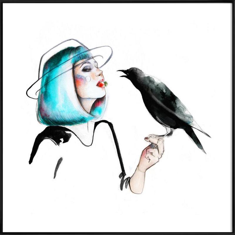 Crow -Bild mit Kunststoffrahmen