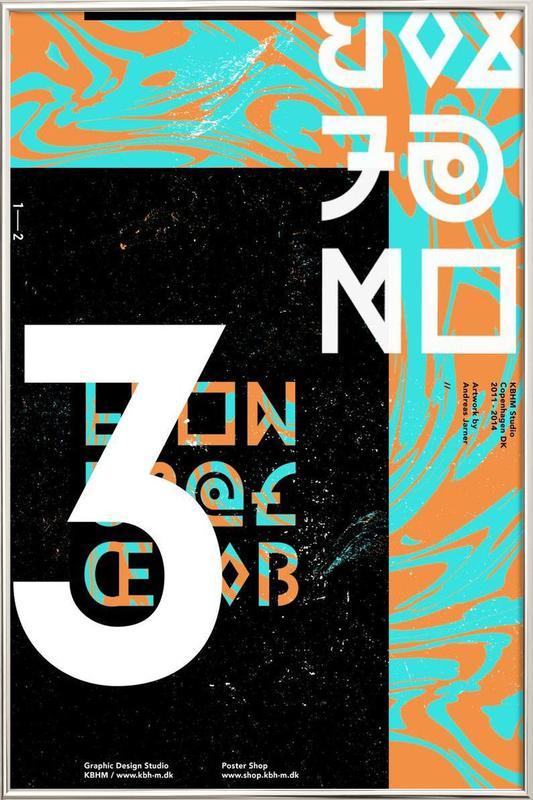 KBHM3YEARS 1 Poster im Alurahmen | Dekoration > Bilder und Rahmen > Poster | Mehrfarbig
