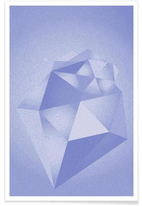 Crystals Blue Poster