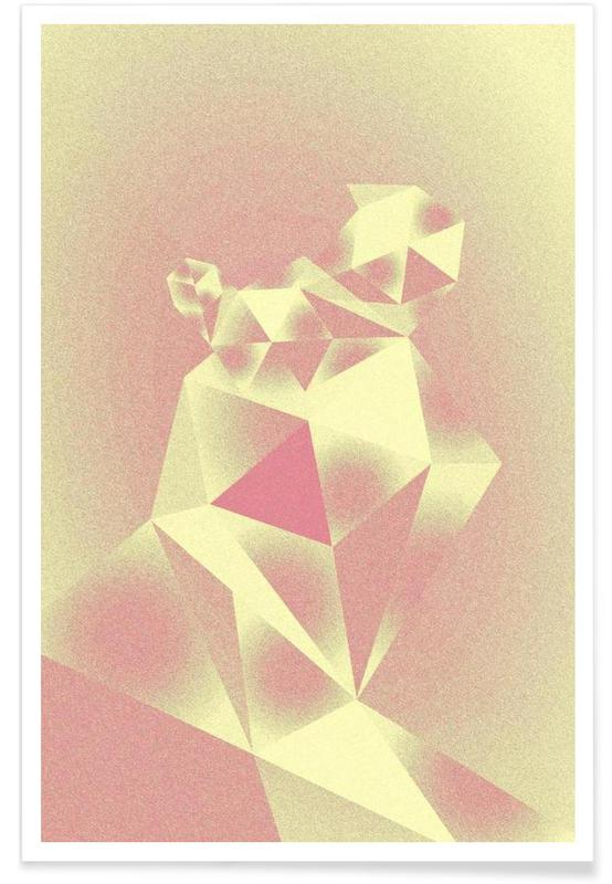 Crystals yellow Poster