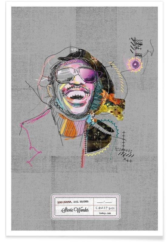 Stevie Portrait affiche