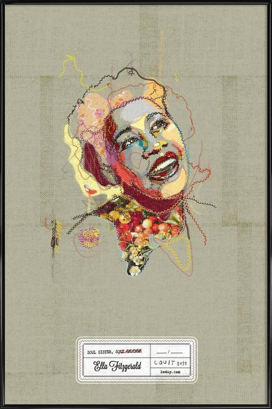 Ella Portrait -Bild mit Kunststoffrahmen