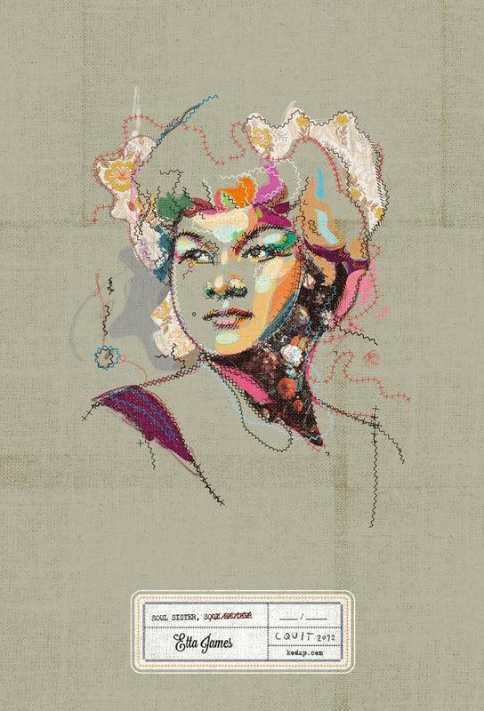 Etta Portrait -Acrylglasbild