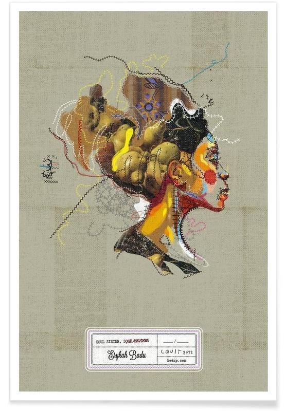 Erykah Portrait affiche