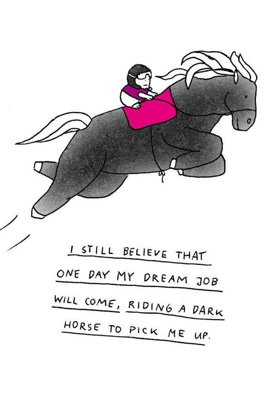 Dream Job Alu Dibond Druck