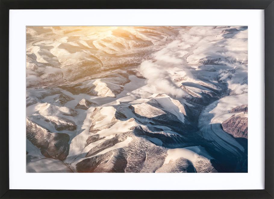 Raw 6 Nanortalik Greenland -Bild mit Holzrahmen