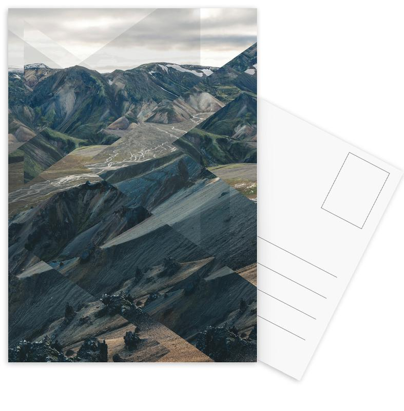 Scattered 3 Landmannalaugar Postkartenset | Dekoration > Accessoires | Mehrfarbig