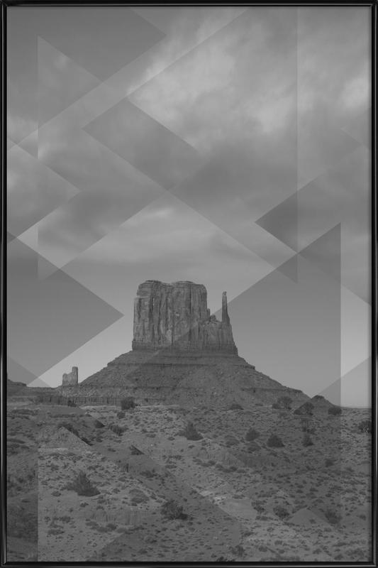 Scattered 4 Monument Valley -Bild mit Kunststoffrahmen