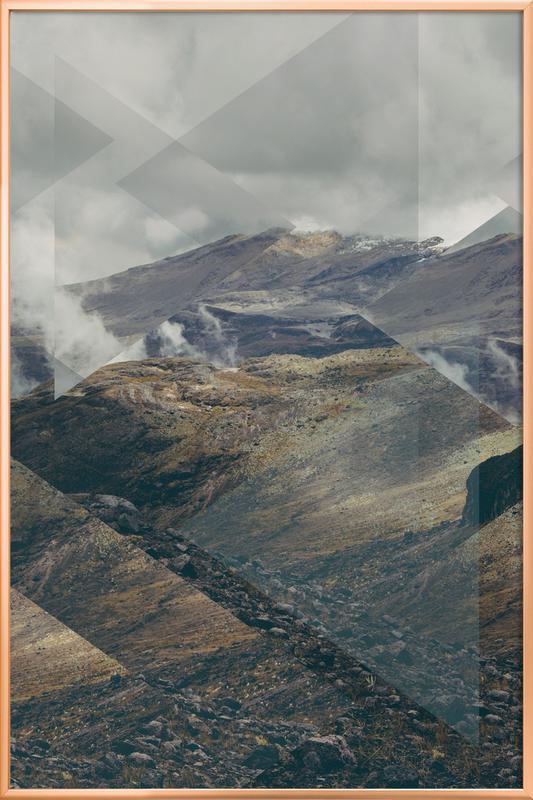 Scattered 4 Nevado del Ruiz -Poster im Alurahmen