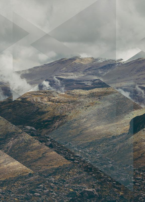 Scattered 4 Nevado del Ruiz canvas doek