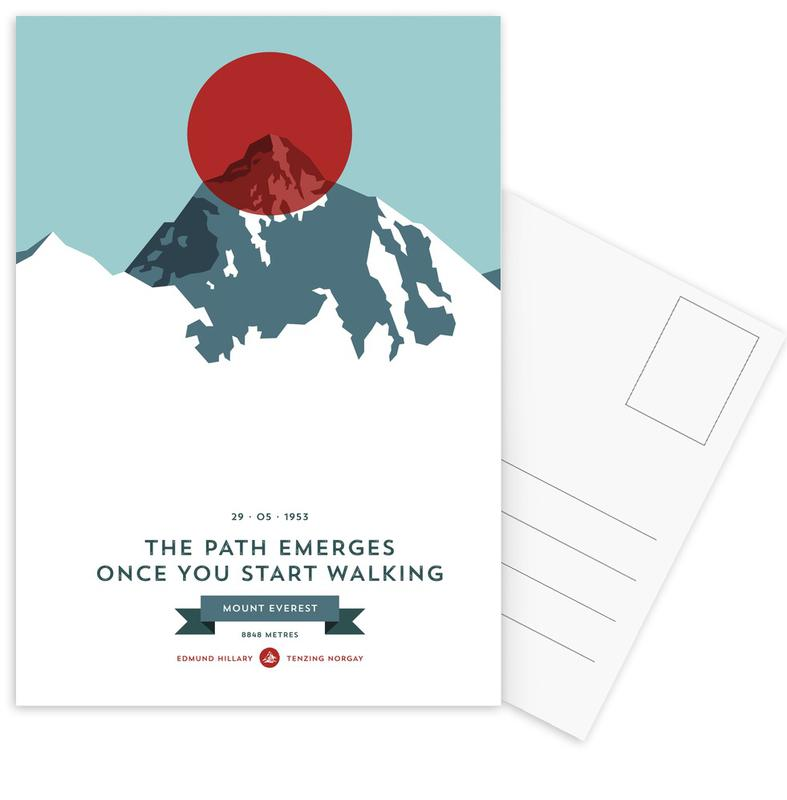 Mount Everest Red Postkartenset | Dekoration > Accessoires | Mehrfarbig
