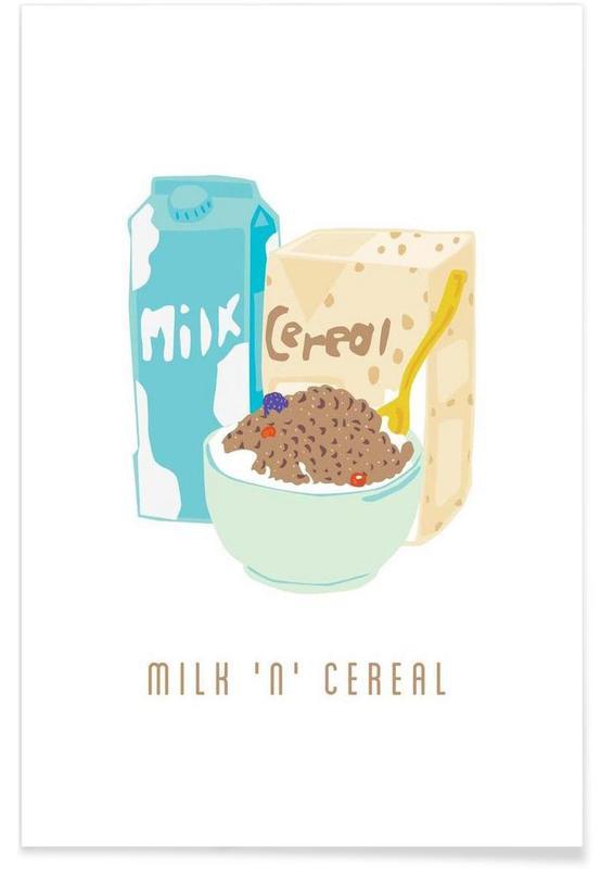 Milk 'N' Cereal Premium Poster | Dekoration > Bilder und Rahmen > Poster