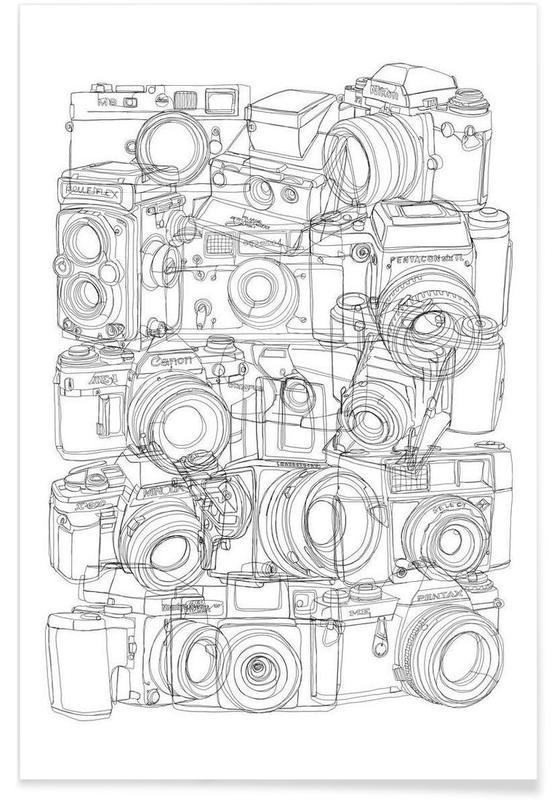 Camera BW Poster