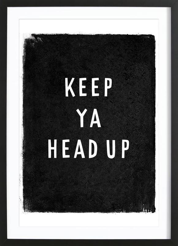 Keep ya head up Framed Print
