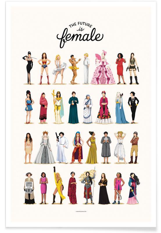The Future Is Female Plakat