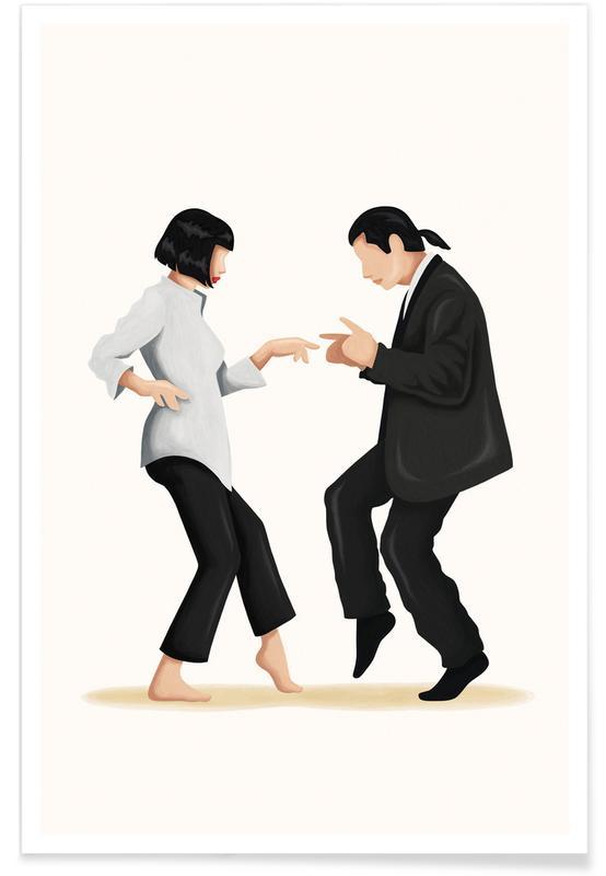 Pulp Fiction Dance Plakat
