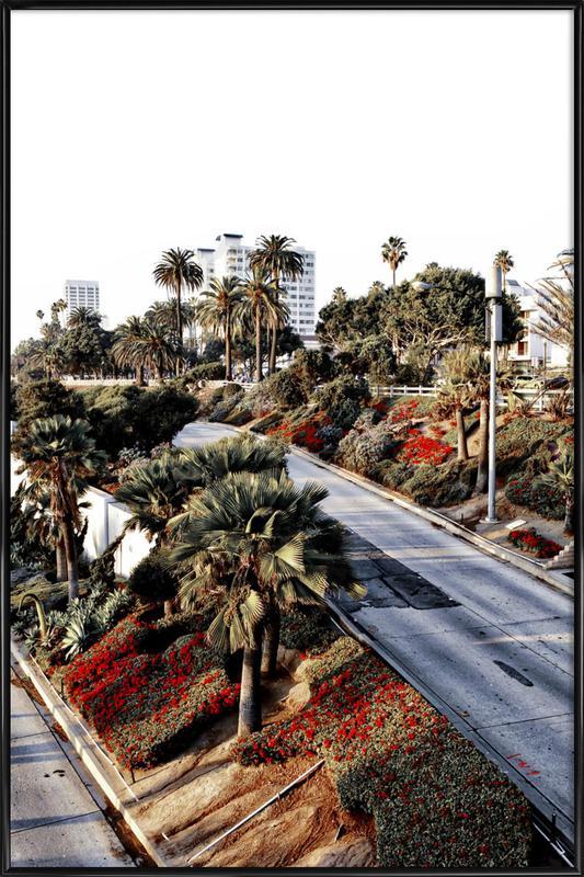 Santa Monica Red Framed Poster