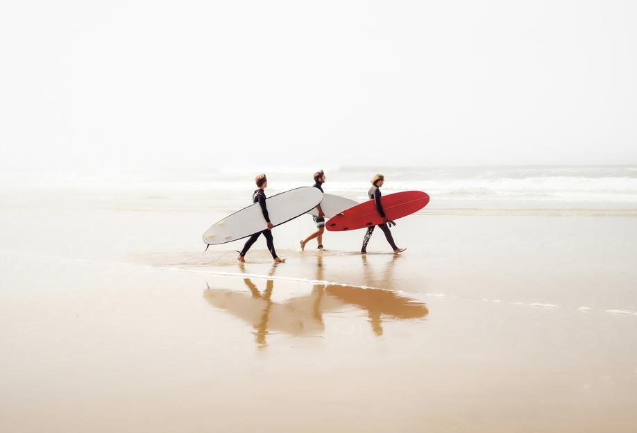 Surf Triple 1 -Acrylglasbild