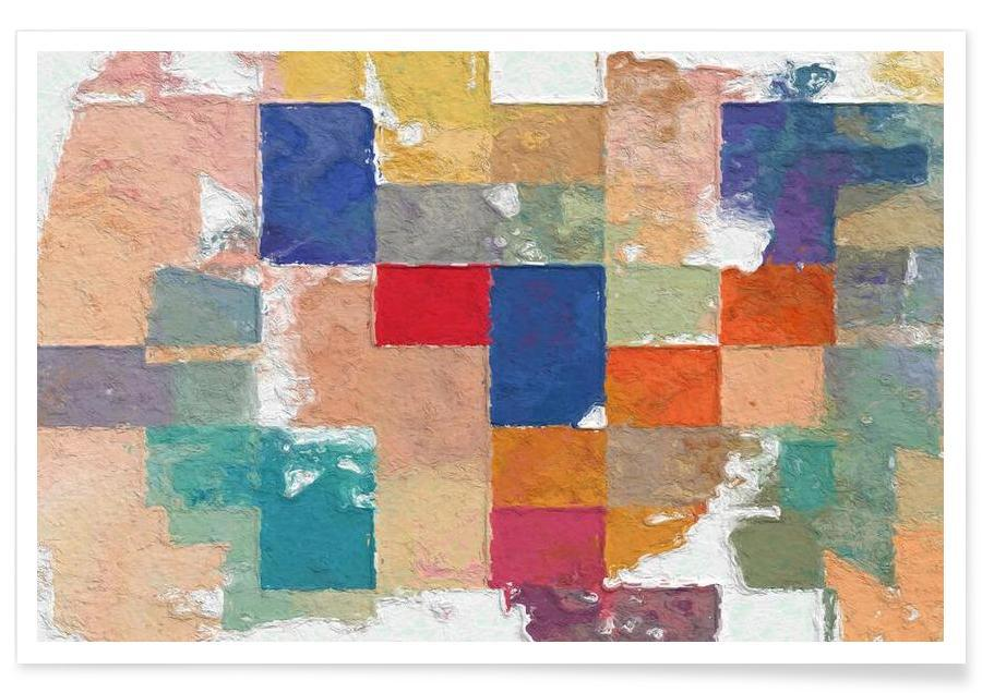 Color Squares Poster