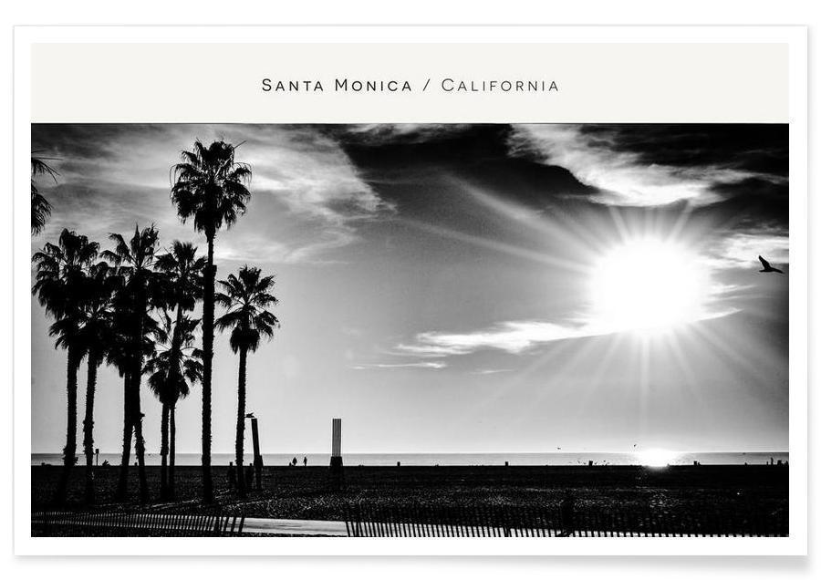 Santa Monica No. 1 B&W -Poster
