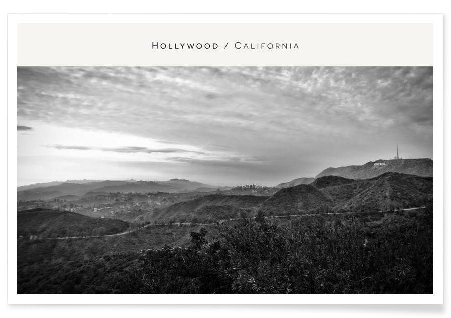 Hollywood B&W -Poster