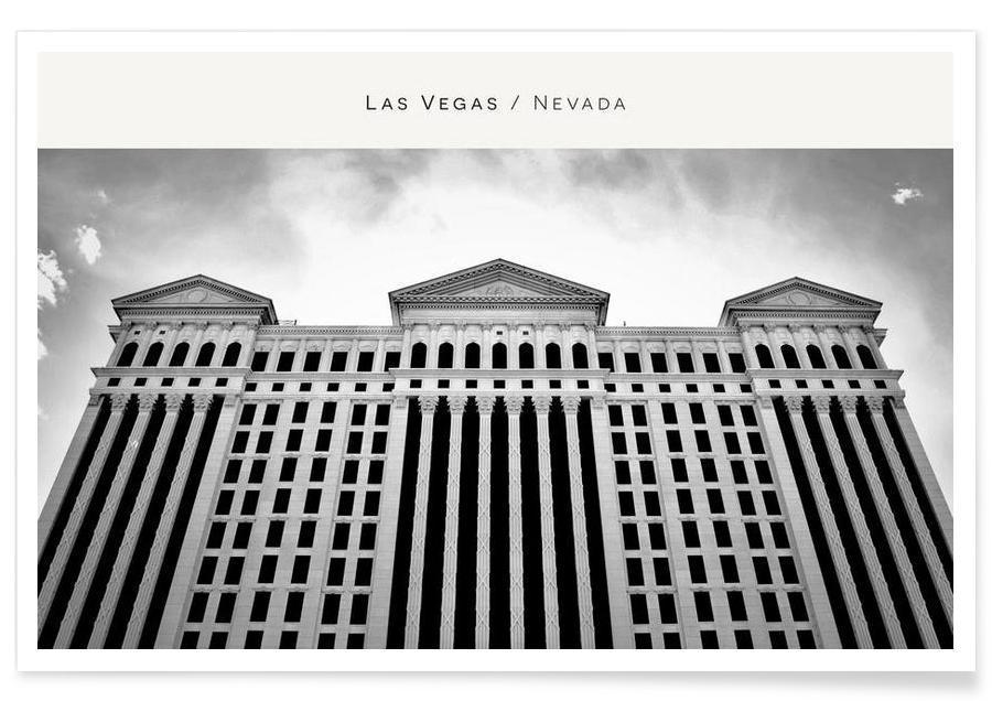 Las Vegas B&W Poster