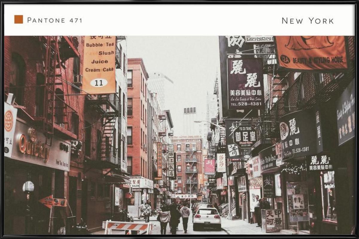 New York Pantone 471 Framed Poster