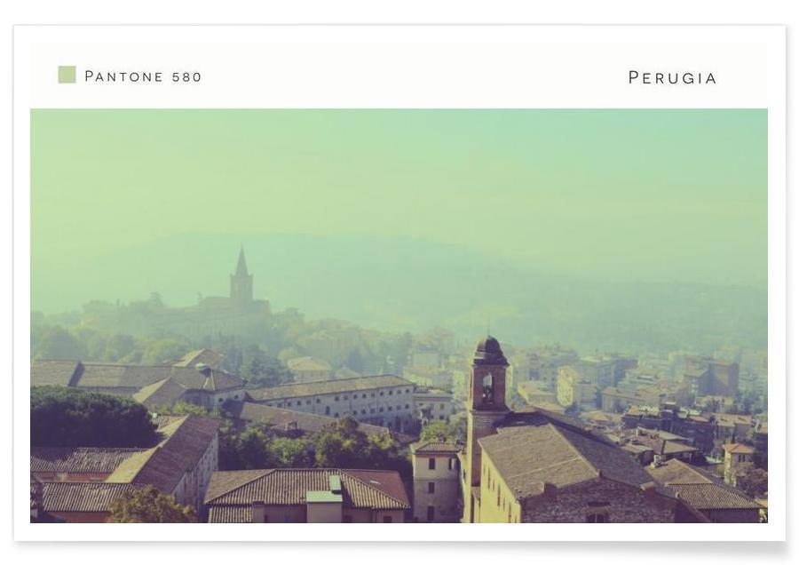 Perugia Pantone 580 Poster