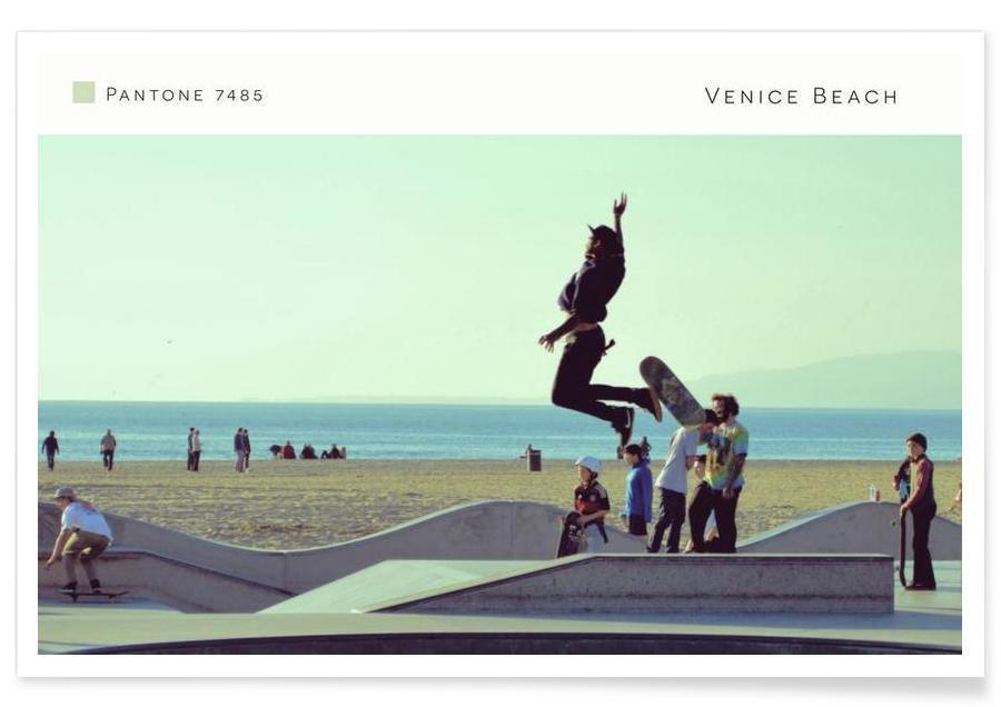 Venice Beach Pantone 7485 Poster