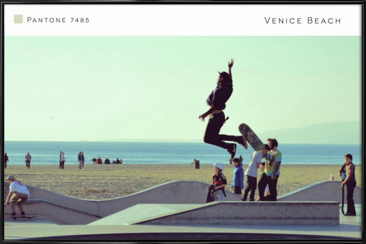 Venice Beach Pantone 7485 ingelijste poster