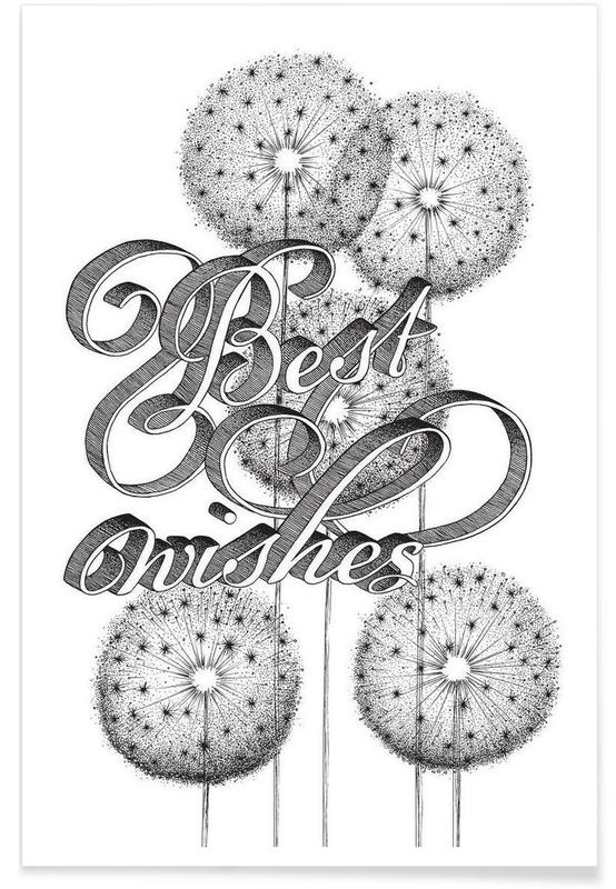 Best wishes hand-lettering Poster