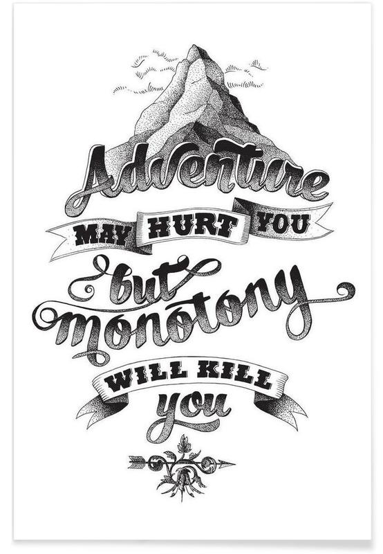 Adventure hand-lettering -Poster
