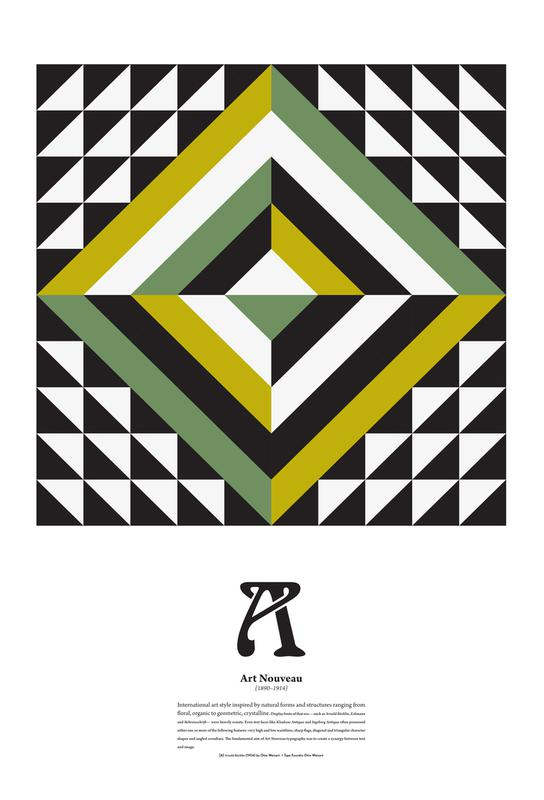 A Art Nouveau Alu Dibond Druck | Dekoration > Bilder und Rahmen > Poster | Mehrfarbig | Aluminium