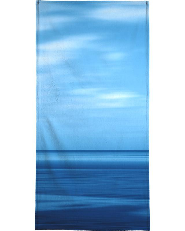 Seascape Blue Sky Bath Towel