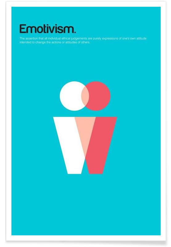 Emotivism - Minimalistic Definition Poster