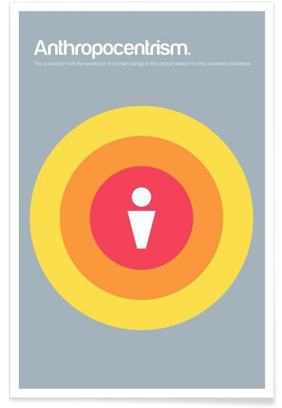 Anthropocentrisme - Definition minimaliste affiche