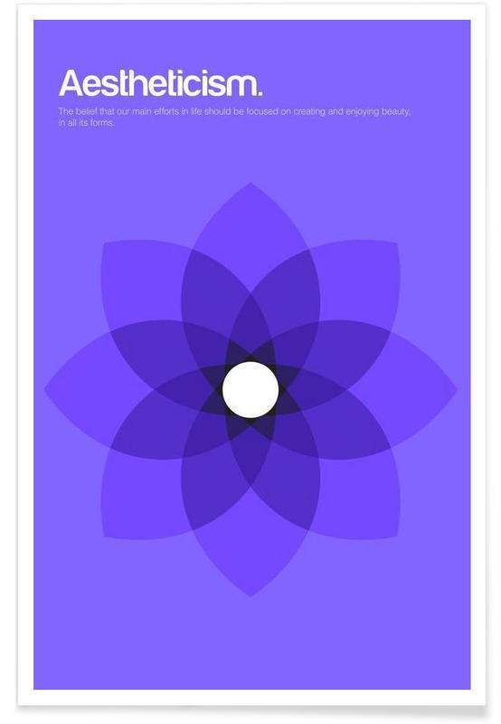 Esthetiek - minimalistische definitie poster