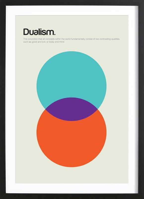 Dualism -Bild mit Holzrahmen