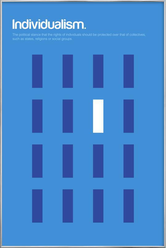 Individualism -Poster im Alurahmen