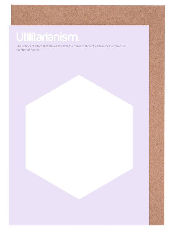 Utilitarianism -Grußkarten-Set