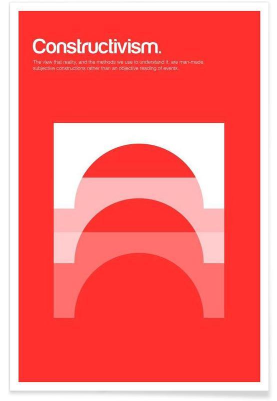 Constructivisme - Definition minimaliste affiche