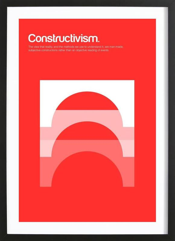 Constructivism -Bild mit Holzrahmen