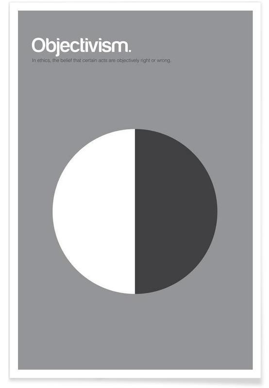 Objectivism - Minimalistic Definition Poster