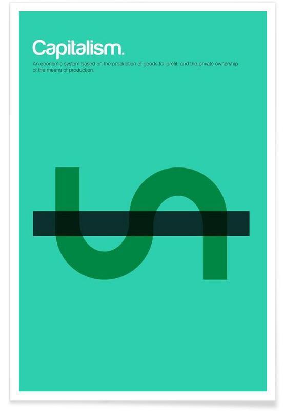 Capitalism - Minimalistic Definition Poster
