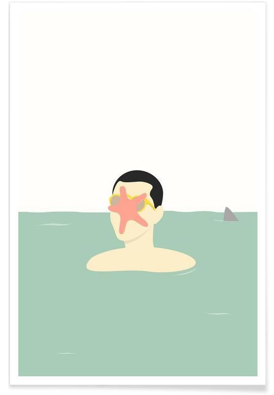 En Smuk Dag Paa Havet Poster